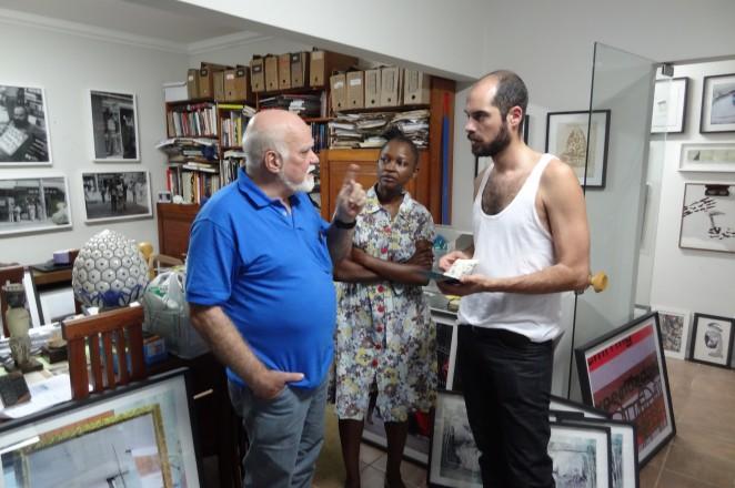 Op werkbezoek bij lokale kunstenaars